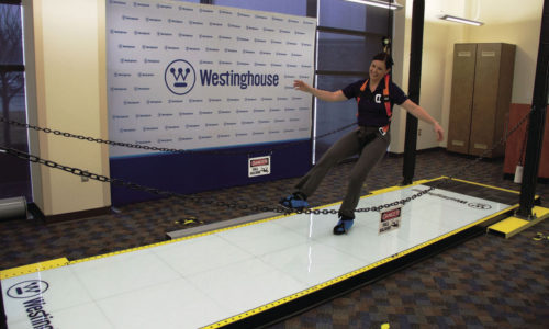 Malorye Barlett slipping on the Slip Simulator™